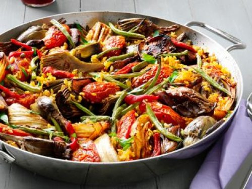 Paella De Verduras Recetaspaella Es